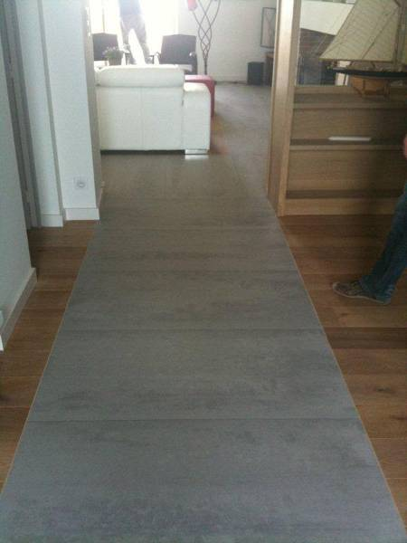 Carrelage sol for Pose carrelage sol imitation parquet